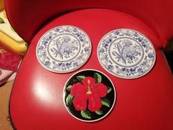 3 darab porcelán alátét vagy falidísz