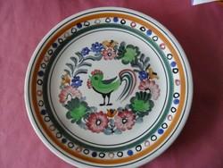 Lengyel Wjoclawek madaras kézi festett dísz tányér
