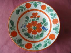 Antik almás-virágos fali tányér