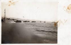 Flottille im Kanal Von Sebenico, kuk seebataillon, képeslap méret
