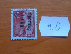 MAGYAR KIR. POSTA 1946 Overprints 4.O