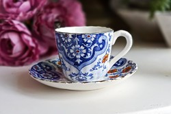Antik Sarreguemines Monreal mokkás csésze
