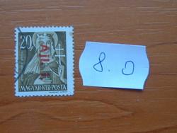 MAGYAR KIR. POSTA 1946 Overprints 8.O