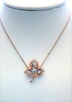 Antik rózsa vágású gyémántok rókafejes arany