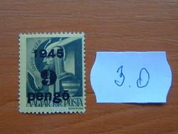 """MAGYAR KIR. POSTA 1945 Felülnyomta """"1945""""  3.O"""