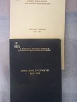 Budapesti Műszaki egyetem szakorvosi rendelőintézetének Jubileumi évkönyvei 1925-1975 és 1925-1985 k