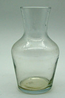 B763 Antik üveg váza 1 Ft-ról - hibátlan, szép állapotban