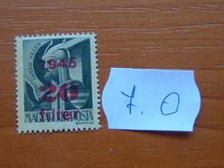"""MAGYAR KIR. POSTA 1945 Felülnyomta """"1945""""  7.O"""