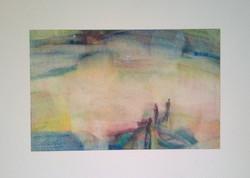 Festmény,  Iványi Ödön, Készülődés, 1980