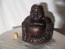 Szép régi nagy Buddha fa szobor