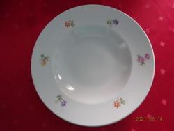 Drasche porcelán, apró virágos mélytányér, átmérője 23,5 cm.