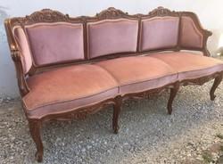 Gyönyörű, mutatós Neobarokk kanapé, Sofa,Garnitúra része
