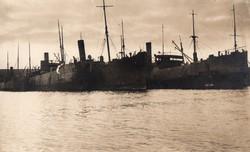 Fekete-tenger kikötő, hadihajó, ritka,14x8,7 cm