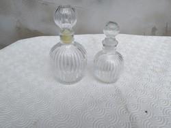 2 db antik parfümös üveg