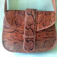 Kígyóbőr táska, valódi piton bőr (nem kicsi!)