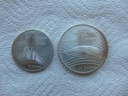 Kanada ezüst 5 - 10 dollár 1976 LOT !!! 24.3 gramm + 48.6 gramm 925 - ös ezüst  01