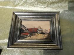 1ft os aukció. Mednyányszky szignós festmény, hagyatéki pecsétes.