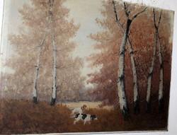 Antik szignált festmény 703