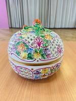 Gyönyörű nagyméretű Herendi bonbonier