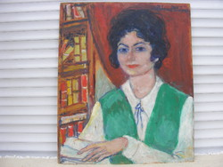 Kliené Róna Klára Önarckép? könyvek között,olaj
