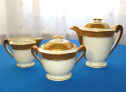 Francia Limoges-i porcelán kávés, mokkás szervírozó készlet