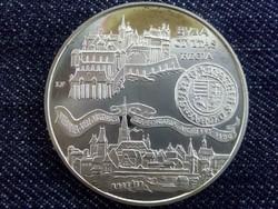 Buda Civitas Regia .900 ezüst 500 Forint 1990 BP PP (id3707)