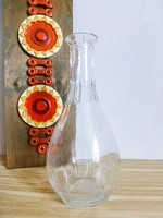 Antik,szögletes üveg,boros szervír üveg palack