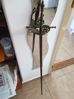 Réz markolatú, vívó kard 108 cm eladó!