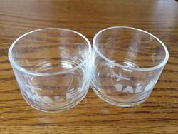 MALÉV üveg pohár