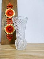 Csodaszép,csiszolt ólomkristály bütykös váza