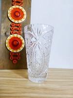 Csodaszép,csiszolt  ólomkristály váza