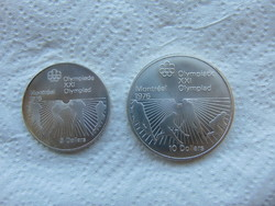 Kanada ezüst 5 - 10 dollár 1976 LOT ! 24.3 gramm + 48.6 gramm 925 - ös ezüst 03
