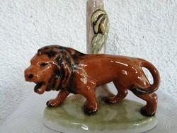 Régi oroszlános  kerámia lámpa talp.
