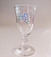 Antik zománc festett kis likõrös pohár