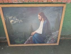 1 ft os aukció! Jézús az.olajfákhegyénél. Hatalmas festmény.