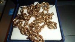 14K klasszikus, csavart arany lánc