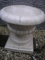 N13 Leárazva virágtartó,+ fűszernövény stb Szobrászbeton Barokk stílusú, ritkaság eladó 23.5 kg-os