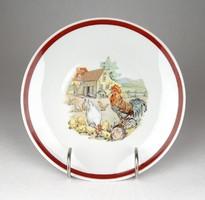 1F002 Kakasos Kahla porcelán tányér 19.5 cm