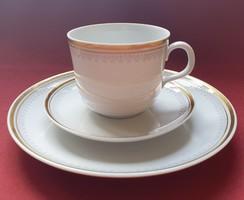 Kahla német porcelán reggeliző szett 3 részes (csésze, csészealj, kistányér)