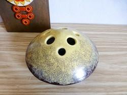 Retro,bodrogkeresztúri ikebana kerámia váza,Ritka forma!