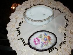 Régi német porcelán bonbonier jelzett hibátlan állapotban van