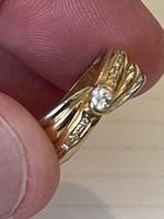 Masnis kis modern 14 kr brilliáns gyűrű eladó!Ara:59000.-