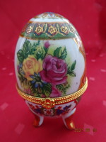 Faberge porcelán tojás, magassága 9,5 cm.