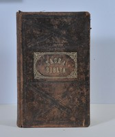 Antik Szent Biblia az 1705 évekből