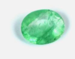 Különleges Aukciót! Ovális Zöld smaragd 0.45Ct tanúsítással