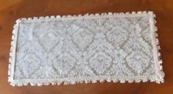 Barokk mintás selyembrokát terítő. 60x28 cm