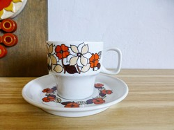 Hollóházi virág mintás kávéscsésze