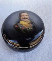 1.Világháborús II.Vilmos Császár Porcelán Tégely