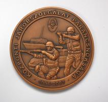 Központi Járőrszolgálat Parancsnoksága 1996-2001 plakett.