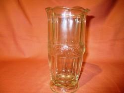 Antik, régi rózsás üveg váza